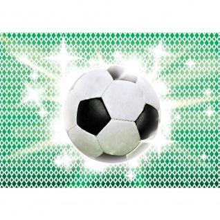 Fototapete Fußball Tapete Fussball Ball Sterne Grün Weiss grün | no. 1038