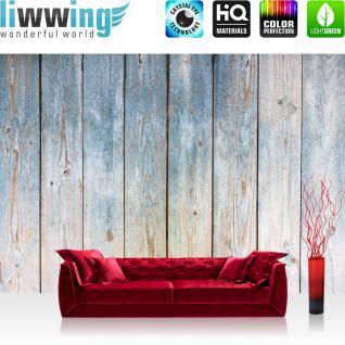 liwwing Vlies Fototapete 416x254cm PREMIUM PLUS Wand Foto Tapete Wand Bild Vliestapete - Holz Tapete Holzwand Bretterwand Vintage antik natural - no. 3442
