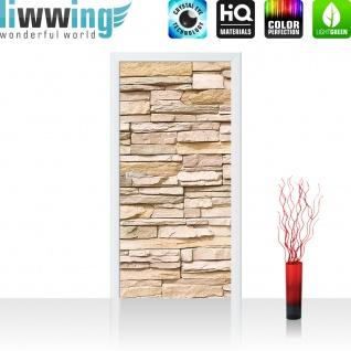 Türtapete - Asian Stone Wall Steinwand Steine Wand Wall 3D Steintapete | no. 1 - Vorschau 2