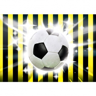 Fototapete Fußball Tapete Fussball Ball Sterne Soccer Schwarz Gelb schwarz | no. 1035