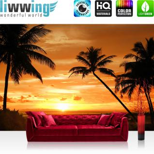 liwwing Vlies Fototapete 416x254cm PREMIUM PLUS Wand Foto Tapete Wand Bild Vliestapete - Holz Tapete Holzmuster 3D Holzwand Holz Muster braun - no. 2590