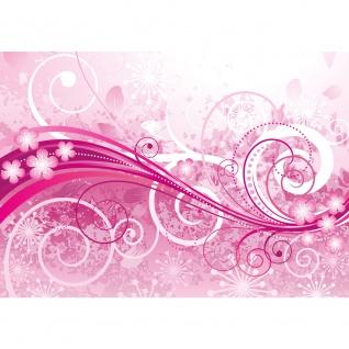 Fototapete Pink Floral Ornaments Ornamente Tapete Ornamente Blumen Orchidee Rot Blumenranke Blumendeko pink | no. 95