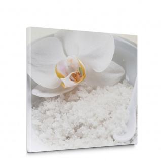 Leinwandbild Orchideen Salz Spa Wellness | no. 5589