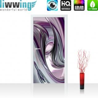 Türtapete - Liquid Climax 3D Digital Art Abstrakt Schwung blau rot lila   no. 10 - Vorschau 2