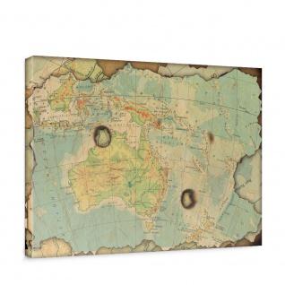 Leinwandbild Landkarte Welt Kontinent Vintage Globus Wissenschaft Kartografie | no. 4315