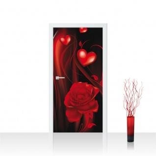 Türtapete - Ornamente Rose rechts Herzen | no. 874