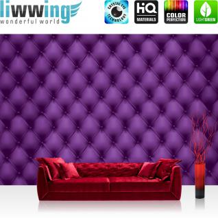 liwwing Vlies Fototapete 416x254cm PREMIUM PLUS Wand Foto Tapete Wand Bild Vliestapete - Illustrationen Tapete Sofa Textur Illustration Leder lila - no. 1222