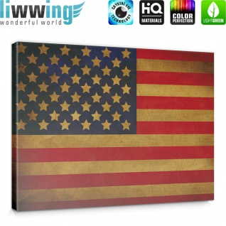 Leinwandbild Star Spangled Banner Flagge USA Amerika | no. 3451 - Vorschau 5