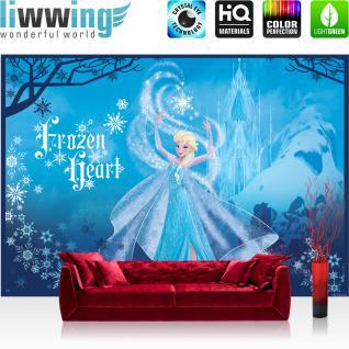 liwwing Fototapete 368x254 cm PREMIUM Wand Foto Tapete Wand Bild Papiertapete - Disney Tapete Disney - Frozen Eiskönigin - Elsa Kindertapete Cartoon Prinzessin blau - no. 1125