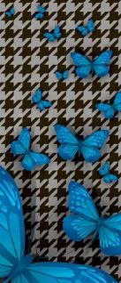 Türtapete - Abstrakt Zeichen Schmetterling   no. 358 - Vorschau 5