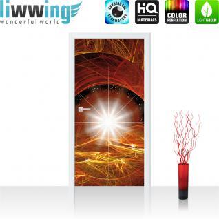 liwwing Türtapete selbstklebend 91x211 cm PREMIUM PLUS Tür Fototapete Türposter Türpanel Foto Tapete Bild - Ornament Stern Licht - no. 1100 - Vorschau 1