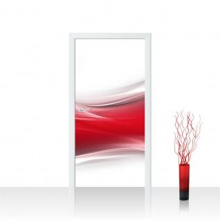 Türtapete - Ornament abstrakt Wand Rot Hintergrund | no. 214