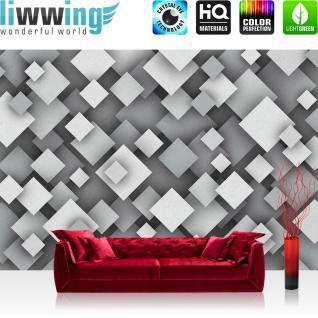 liwwing Vlies Fototapete 152.5x104cm PREMIUM PLUS Wand Foto Tapete Wand Bild Vliestapete - Texturen Tapete Dreiecke Rauten Retro Sixties bunt - no. 3454