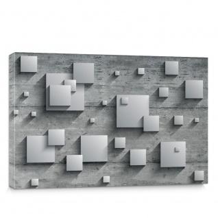 Leinwandbild Holzwand Rechtecke Platten Kunst Design 3D Optik   no. 885