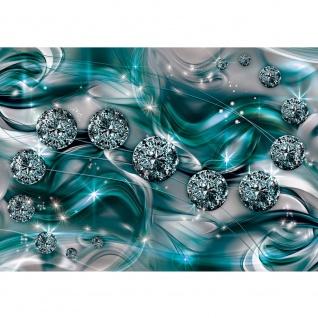 Fototapete Ornamente Tapete Diamanten, Brillanten, Sterne türkis   no. 3371