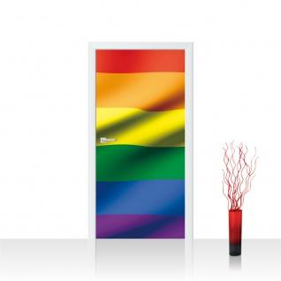 Türtapete - Regenbogen Flagge Fahne | no. 1041