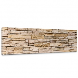 Leinwandbild Asian Stone Wall - natural Steinoptik Steinwand Stonewall Steine   no. 130