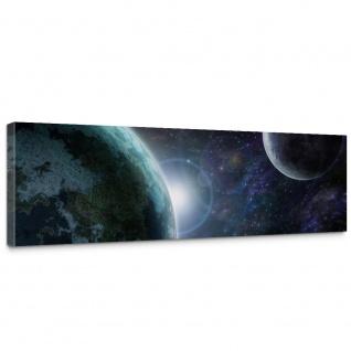 Leinwandbild Weltraum Erde Mond Weltall | no. 229