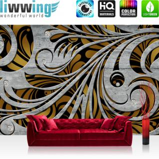 liwwing Vlies Fototapete 416x254cm PREMIUM PLUS Wand Foto Tapete Wand Bild Vliestapete - Wein Tapete Weintrauben Wein Berge See Häuser Landschaft grün - no. 1526