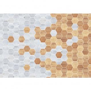Fototapete Kunst Tapete Abstraktion Design Modern Mosaik Baum Brett braun | no. 4413