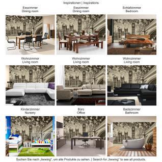 liwwing Vlies Fototapete 208x146cm PREMIUM PLUS Wand Foto Tapete Wand Bild Vliestapete - London Tapete Big Ben Brücke Wasser Himmel Vintage grau - no. 3061 - Vorschau 5