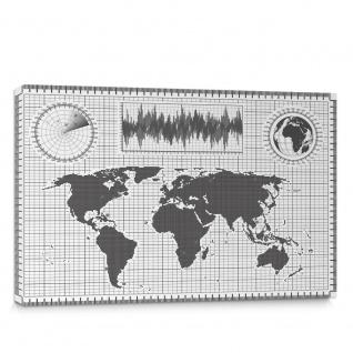 Leinwandbild Landkarte Karte Kontinent Globus Wissenschaft Reise Kartografie | no. 4312