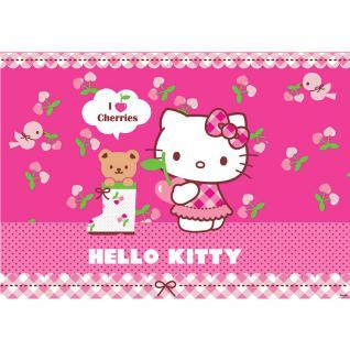 liwwing Fototapete 254x168 cm PREMIUM Wand Foto Tapete Wand Bild Papiertapete - Mädchen Tapete Hello Kitty - Kindertapete Cartoon Katze Gitarre Keyboard Kinder pink - no. 1025 - Vorschau 2