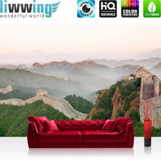 liwwing Vlies Fototapete 350x245 cm PREMIUM PLUS Wand Foto Tapete Wand Bild Vliestapete - Stadt China Mauer - no. 251