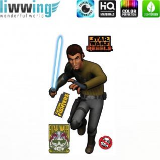 Wandsticker Disney Star Wars - No. 4638 Wandtattoo Sticker Kinderzimmer Laserschwert Weltall Raumschiffe Jungen