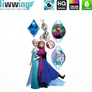 Wandsticker Disney Frozen - No. 4673 Wandtattoo Sticker Kinderzimmer Eiskönigin Schneemann Anna & Elsa Mädchen