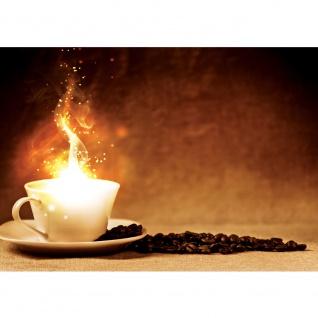 Fototapete Kaffee Tapete Kaffebohnen Licht Feuer braun | no. 1678