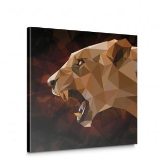 Leinwandbild Löwe Abstraktion Geometrie Katze | no. 4563