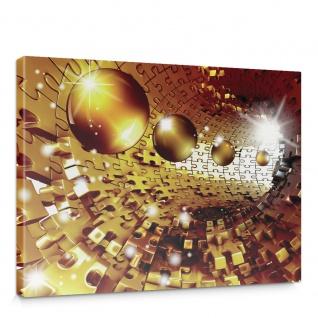 Leinwandbild Abstrakt Kugel Puzzle Tunnel Licht 3D | no. 949