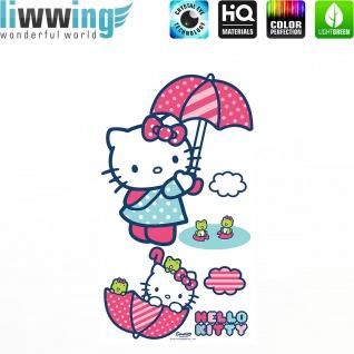 Wandsticker Sanrio Hello Kitty - No. 4630 Wandtattoo Sticker Kinderzimmer Katze Cartoon Kindersticker Mädchen