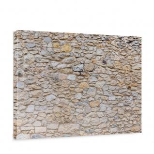 Leinwandbild Steinwand Steinoptik Steine Wand Mauer Stein   no. 149