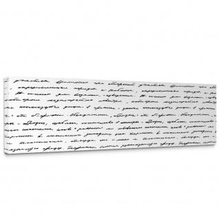 Leinwandbild Zeitungsausschnitt Alt Abstrakt alte Schrift | no. 182