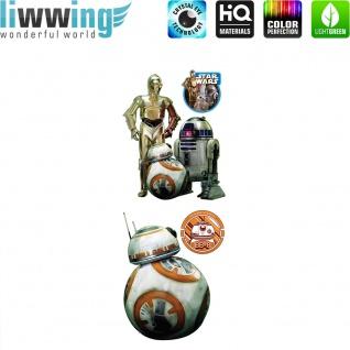 Wandsticker Disney Star Wars - No. 4853 Wandtattoo Sticker Laserschwert Weltall Raumschiffe Sterne Planet Jungen