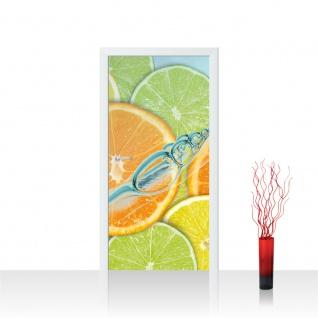 Türtapete - Limette Orange Zitrone | no. 296
