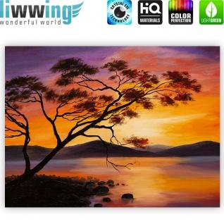 Leinwandbild Sonnenuntergang Baum Natur Romantisch Urlaub | no. 241 - Vorschau 4