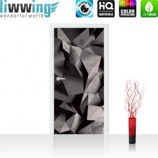 liwwing Türtapete selbstklebend 91x211 cm PREMIUM PLUS Tür Fototapete Türposter Türpanel Foto Tapete Bild - Abstrakt Rechtecke 3D Optik - no. 894