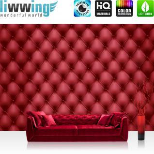 liwwing Fototapete 254x168 cm PREMIUM Wand Foto Tapete Wand Bild Papiertapete - Kunst Tapete Wand Kacheln Muster Design Rechtecke rot - no. 2348