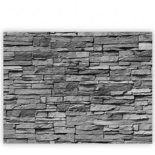 Leinwandbild Asian Stone Wall - anthrazit Steinoptik Steinwand Stonewall Steine   no. 126 - Vorschau 2