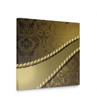 Leinwandbild Ornamente Seil Barock Gold Edel   no. 276