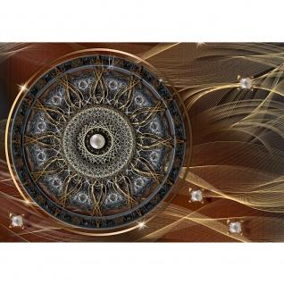 Fototapete Ornamente Tapete Mandala, Sterne, Perlen braun | no. 3239