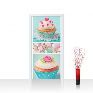 Türtapete - Cupcake Herz Rose Marshmallow | no. 411