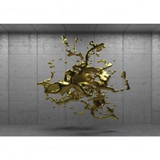 Fototapete 3D Tapete Wand Platten Splash Kunst Abstrakt Illustration gold | no. 1381