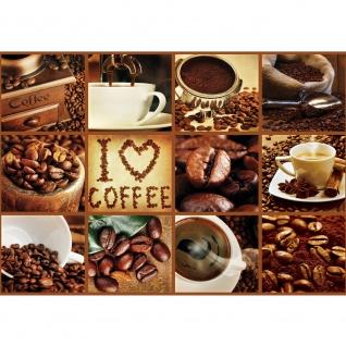 Fototapete Kulinarisches Tapete Kaffee, Barista, Kaffeebohnen, Rahmen braun braun | no. 3278