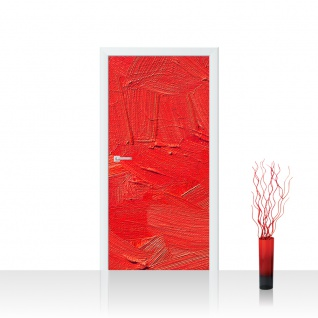 Türtapete - Wall of red shades Wand Spachtel Hintergrund farbige Wand rot | no. 110