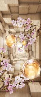 Türtapete - Abstrakt Kirschblüte Perle Rechteck   no. 966 - Vorschau 5