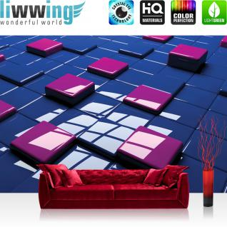 liwwing Vlies Fototapete 416x254cm PREMIUM PLUS Wand Foto Tapete Wand Bild Vliestapete - 3D Tapete Rechtecke Hochglanz 3D blau - no. 1251